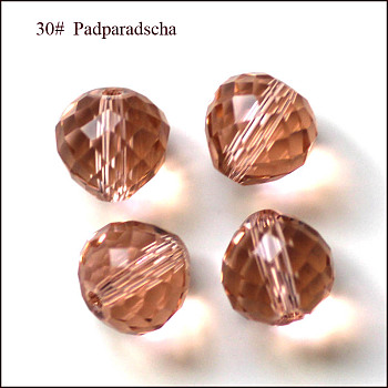 Light Salmon Imitation Austrian Crystal Beads, Grade AAA, Faceted, Teardrop, Light Salmon, 6mm, Hole: 0.7~0.9mm