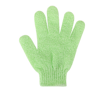 LawnGreen Nylon Scrub Gloves, Exfoliating Gloves, for Shower, Spa and Body Scrubs, Lawn Green, 185x150mm