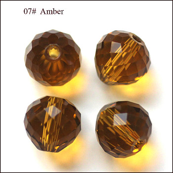 Goldenrod Imitation Austrian Crystal Beads, Grade AAA, Faceted, Teardrop, Goldenrod, 6mm, Hole: 0.7~0.9mm