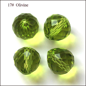 Yellow Green Imitation Austrian Crystal Beads, Grade AAA, Faceted, Teardrop, Yellow Green, 6mm, Hole: 0.7~0.9mm