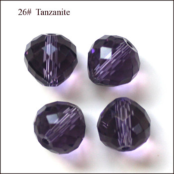 Dark Slate Blue Imitation Austrian Crystal Beads, Grade AAA, Faceted, Teardrop, Dark Slate Blue, 6mm, Hole: 0.7~0.9mm