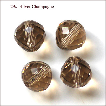 BurlyWood Imitation Austrian Crystal Beads, Grade AAA, Faceted, Teardrop, BurlyWood, 6mm, Hole: 0.7~0.9mm