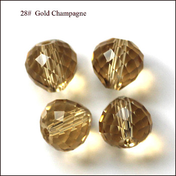 Gold Imitation Austrian Crystal Beads, Grade AAA, Faceted, Teardrop, Gold, 6mm, Hole: 0.7~0.9mm