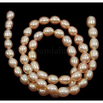 Grado de hebras de perlas de agua dulce cultivadas naturalesA23WE011-1