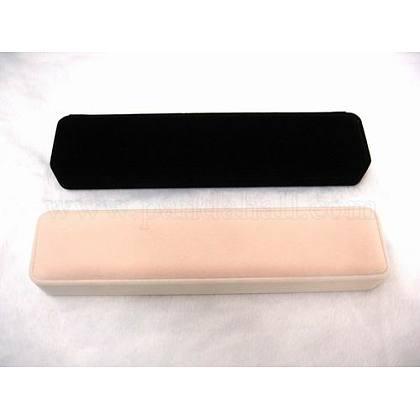 Boîtes de collier de velours rectangleBC098-1
