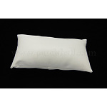 Leather Pillow Jewelry Bracelet Watch Display, White, Size: about 18cm long, 10cm wide, 6cm thick