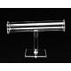 Organic Glass T Bar Bracelet Display Stand, Clear, 22x13x4cm