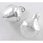 Iron Pendants, Bell Shape, Silver Color Plated, 11x9mm, Hole: 2mm