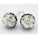 Austrian Crystal Ball Ear Studs EJEW-Q008-1-1