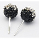Austrian Crystal Ball Ear Studs EJEW-Q008-1-2