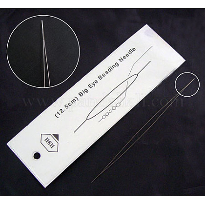 Stainless Steel Collapsible Big Eye Beading NeedlesES001Y-1