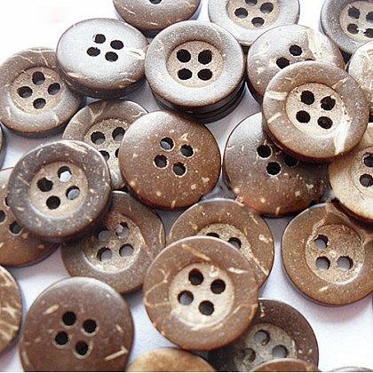 Botón de costura básica redonda tallada 4 hoyosNNA0YXE-1