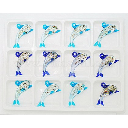 Handmade Silver Foil Glass PendantsFOIL-33X67-1