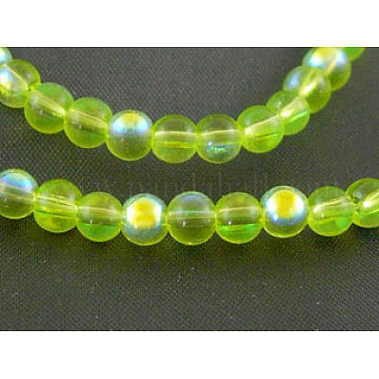 13.8inches Glass Beads Strand GR4mmC09-AB-1