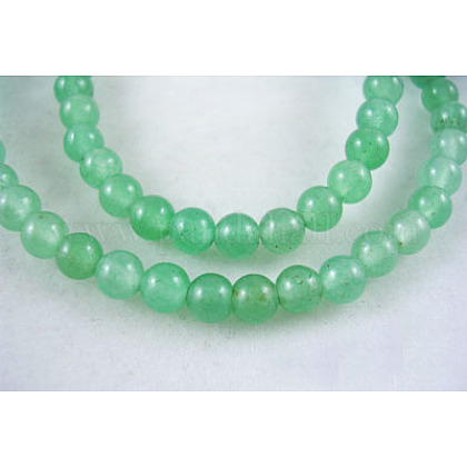 Natural Green Aventurine Beads Strands GSR4mmC024-1
