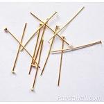 Iron Flat Head Pins, Golden, 26x0.7mm; 11000pcs/1000g