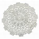 Латуни брошь, круглые, серебро , диаметром около 56 мм