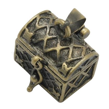 Brass Prayer Box PendantsKK-24X16-AB-1