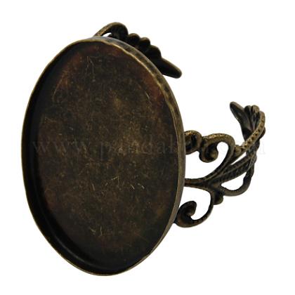 Componentes del anillo de filigrana de latón del manguitoKK-A009-AB-1