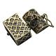 Brass Prayer Box PendantsKK-24X16-AB-3