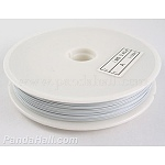 Tiger Tail Wire, Nylon-coated Steel, White, 0.3mm in diameter, 50m/roll