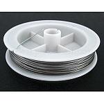 Cable de cola de color original, acero recubierto de nylon, lightgrey, 0.8 mm de diámetro, aproximamente 10 m / rollo