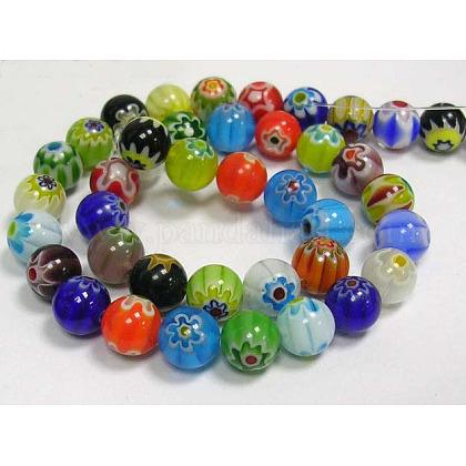 Handmade Millefiori Glass Beads StrandsLK14-1