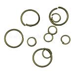 Iron Jump Rings and Split Rings, Ring, Antique Bronze Color, 4~20x0.6~1.5mm; Inner Diameter: 2.8~17mm