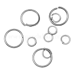Iron Jump Rings and Split Rings, Ring, Nickel Free, Round, Platinum Color, 4~20x0.6~1.5mm; Inner Diameter: 2.8~17mm