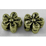 Tibetan Style Beads, Antique Bronze Color, Zinc Alloy Beads, Lead Free & Cadmium Free, 7mm in diameter, 3.5mm thick, hole: 1mm