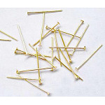 Iron Flat Head Pins, Nickel Free, Golden, 18x0.7mm; about 16000pcs/1000g