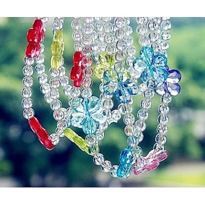 Transparent Acrylic NecklacesNJEW-JN00162-1
