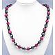 Fashion Polymer Clay Rhinestone NecklacesNJEW-Q172-4-2