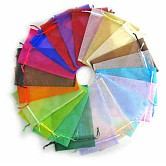 Pochette organza, sacs-cadeaux multicolore, bijoux pochettes en maille pour noce cadeaux de noël sacs de bonbons, rectangle, environ10 cm de large, 12 cm de long