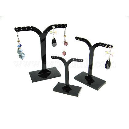 Pedestal negro del soporte de exhibiciónPCT039-2-1