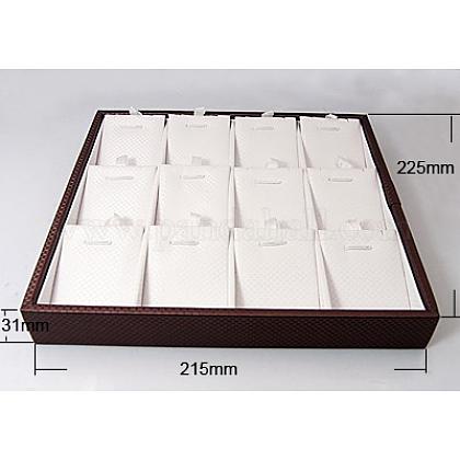 Cajas de presentación de cuero sintético colgantePDIS-A001-4-1