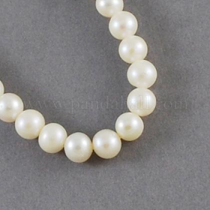 Hebras de perlas de agua dulce cultivadas naturalesPEAR-S001-5~6mm-3-1