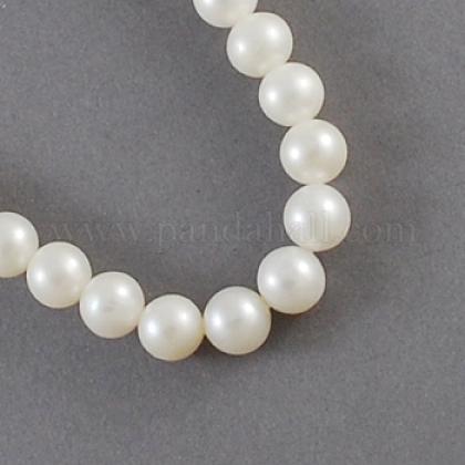 Hebras de perlas de agua dulce cultivadas naturalesPEAR-S001-7~8mm-3-1