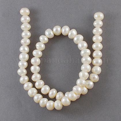 Hebras de perlas de agua dulce cultivadas naturalesPEAR-S002-6~7mm-3-1