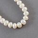 Hebras de perlas de agua dulce cultivadas naturalesPEAR-S002-6~7mm-3-2