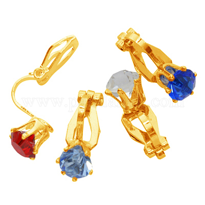Brass Clip on EarringsPFE005-G-1
