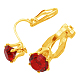 Brass Clip on EarringsPFE005-G-2