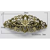 Антикварная железная фурнитура для заколки, с латунной лоток, античная бронза , Размер : шириной около 35 мм , 78 мм длиной, толстый 7 мм