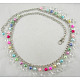 40inches Chain Belt With Acrylic & Glass Pearl Beads 10~12mm PJW007-2