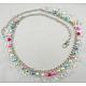 Cinturón de cadena de 40 pulgada con perlas acrílicas y de vidrio de 10~12 mmPJW007-2