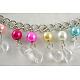 Cinturón de cadena de 40 pulgada con perlas acrílicas y de vidrio de 10~12 mmPJW007-3