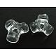 Transparent Acrylic Plastic Tri Beads for Christmas Ornaments MakingPL699-1-1