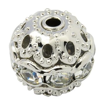 Perles en laiton de strassRB-A011-10mm-01P-1