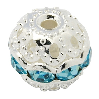 Perles en laiton de strassRB-A011-10mm-03S-1