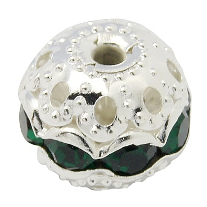 Perles en laiton de strassRB-A011-10mm-08S-1